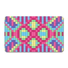 Checkerboard Squares Abstract Magnet (rectangular)