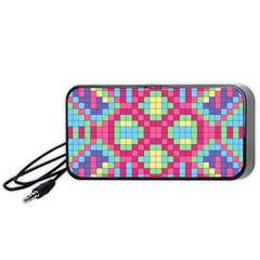 Checkerboard Squares Abstract Portable Speaker