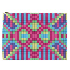 Checkerboard Squares Abstract Cosmetic Bag (xxl)