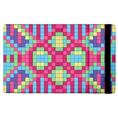 Checkerboard Squares Abstract Apple Ipad 2 Flip Case by Pakrebo