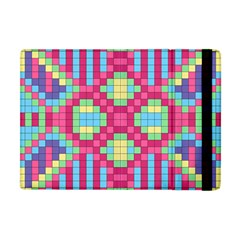 Checkerboard Squares Abstract Apple Ipad Mini Flip Case