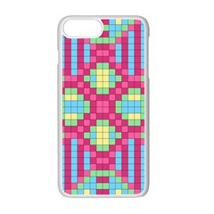 Checkerboard Squares Abstract Apple Iphone 7 Plus Seamless Case (white)