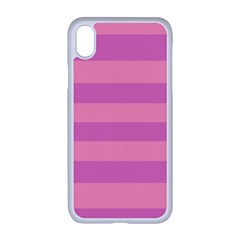 Pink Stripes Striped Design Pattern Apple Iphone Xr Seamless Case (white)