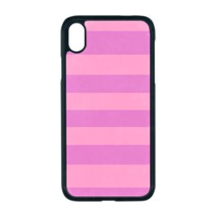 Pink Stripes Striped Design Pattern Apple Iphone Xr Seamless Case (black)
