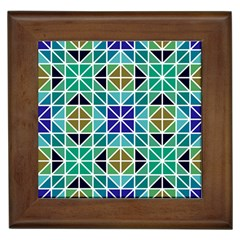 Mosaic Triangle Symmetry Framed Tiles