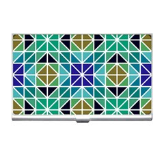 Mosaic Triangle Symmetry Business Card Holder by Pakrebo