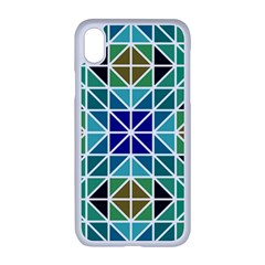 Mosaic Triangle Symmetry Apple Iphone Xr Seamless Case (white)