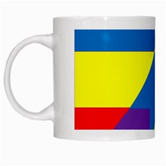 Colorful Red Yellow Blue Purple White Mugs