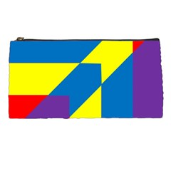 Colorful Red Yellow Blue Purple Pencil Cases by Pakrebo