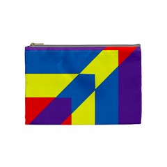 Colorful Red Yellow Blue Purple Cosmetic Bag (medium) by Pakrebo