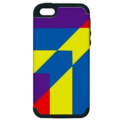 Colorful Red Yellow Blue Purple Apple Iphone 5 Hardshell Case (pc+silicone)