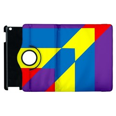 Colorful Red Yellow Blue Purple Apple Ipad 3/4 Flip 360 Case by Pakrebo