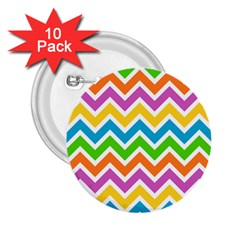 Chevron Pattern Design Texture 2 25  Buttons (10 Pack)  by Pakrebo
