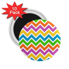 Chevron Pattern Design Texture 2 25  Magnets (10 Pack)  by Pakrebo