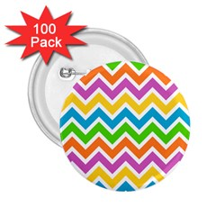 Chevron Pattern Design Texture 2 25  Buttons (100 Pack)  by Pakrebo