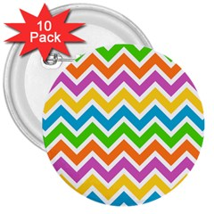 Chevron Pattern Design Texture 3  Buttons (10 Pack)  by Pakrebo