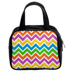 Chevron Pattern Design Texture Classic Handbag (two Sides) by Pakrebo