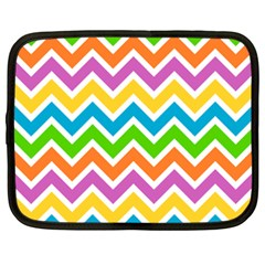 Chevron Pattern Design Texture Netbook Case (xxl) by Pakrebo