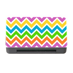 Chevron Pattern Design Texture Memory Card Reader With Cf by Pakrebo