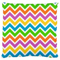 Chevron Pattern Design Texture Large Cushion Case (one Side) by Pakrebo