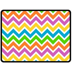 Chevron Pattern Design Texture Double Sided Fleece Blanket (large)