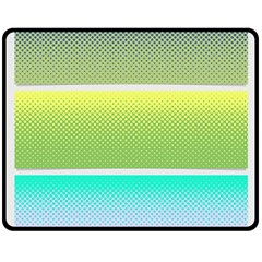Pattern Banner Background Dot Set Double Sided Fleece Blanket (medium)