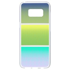 Pattern Banner Background Dot Set Samsung Galaxy S8 White Seamless Case