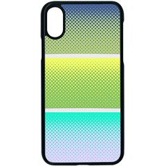 Pattern Banner Background Dot Set Apple Iphone X Seamless Case (black)