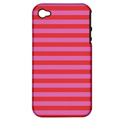 Stripes Striped Design Pattern Apple Iphone 4/4s Hardshell Case (pc+silicone)