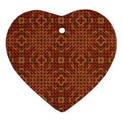 Mosaic Triangle Symmetry Heart Ornament (two Sides)