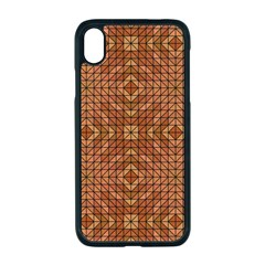 Mosaic Triangle Symmetry Apple Iphone Xr Seamless Case (black)