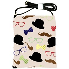 Moustache Hat Bowler Bowler Hat Shoulder Sling Bag