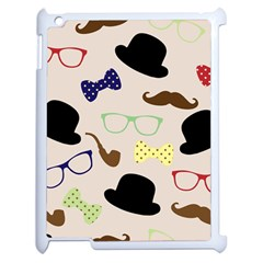 Moustache Hat Bowler Bowler Hat Apple Ipad 2 Case (white)