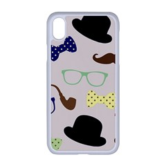 Moustache Hat Bowler Bowler Hat Apple Iphone Xr Seamless Case (white)