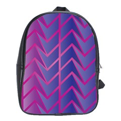 Geometric Background Abstract School Bag (xl)