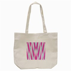 Geometric 3d Design Pattern Pink Tote Bag (cream)