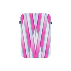Geometric 3d Design Pattern Pink Apple Ipad Mini Protective Soft Cases