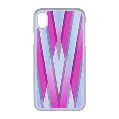 Geometric 3d Design Pattern Pink Apple Iphone Xr Seamless Case (white)