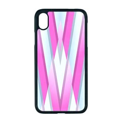 Geometric 3d Design Pattern Pink Apple Iphone Xr Seamless Case (black)