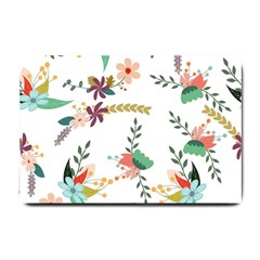 Floral Backdrop Pattern Flower Small Doormat