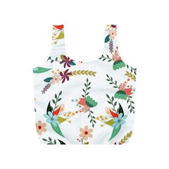 Floral Backdrop Pattern Flower Full Print Recycle Bag (s)