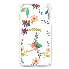 Floral Backdrop Pattern Flower Apple Iphone 6 Plus/6s Plus Enamel White Case
