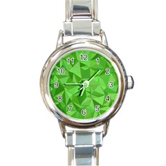 Mosaic Tile Geometrical Abstract Round Italian Charm Watch