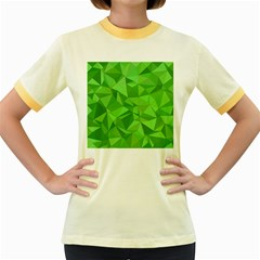 Mosaic Tile Geometrical Abstract Women s Fitted Ringer T Shirt