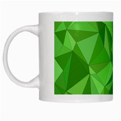 Mosaic Tile Geometrical Abstract White Mugs