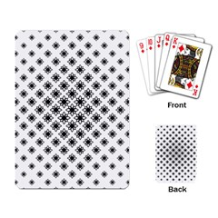 Stylized Flower Floral Pattern Playing Cards Single Design