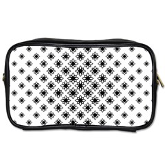 Stylized Flower Floral Pattern Toiletries Bag (one Side)