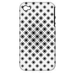 Stylized Flower Floral Pattern Apple Iphone 4/4s Hardshell Case (pc+silicone)