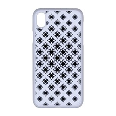 Stylized Flower Floral Pattern Apple Iphone Xr Seamless Case (white)