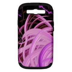 Purple Fractal Artwork Feather Samsung Galaxy S Iii Hardshell Case (pc+silicone)